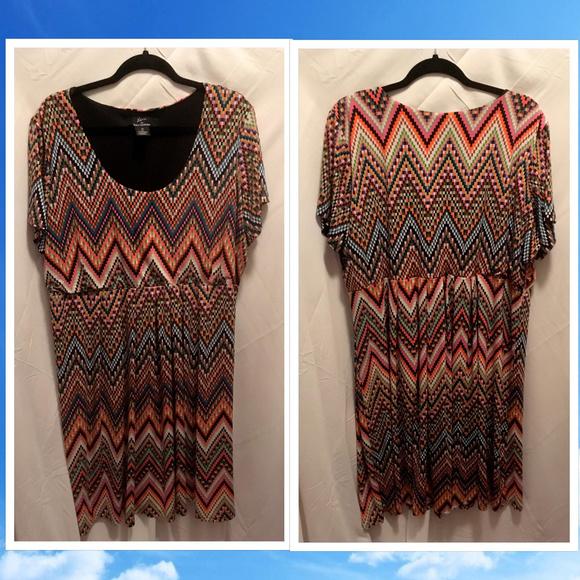 21a2048be92 Lennie by Nina Leonard Dresses   Skirts - Pixelated Colorful Dress 3X Lennie  Nina Leonard